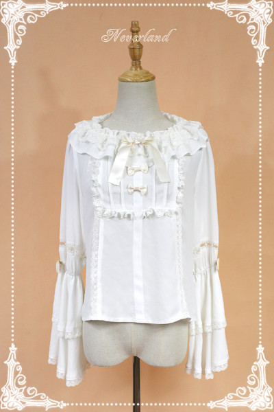 *Neverland*Elector double sleeved lolita shirt with round neck