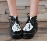 【 Angelic imprint】Lolita Punk Style Super Cool Cross With Thick Muffin Shoes