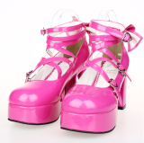 【 Angelic imprint】Japanese Sweet LOLITA Shoes Before And After Have Bowknot Princess Shoes