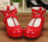 【 Angelic imprint】Round-head and Mid-heel Lolita Shoes Princese Bowknot Shoes