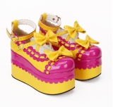 【 Angelic imprint】Classical Japanese Style Lolita Lace Platform Shoes