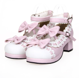 【 Angelic imprint】Lolita Sweet Shoes Lovely Bowknot Princess Shoes