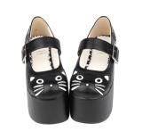 Classical Round-head Cute Cat Lolita Shoes