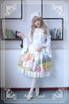 *Neverland*Song of Skylark  countryside high waist lolita skirt