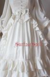 SurfaceSpell ~Nymph~High waist lantern sleeve gorgeous dress