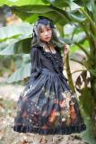 *Neverland*Pick flowers girl print long sleeve lolita op dress