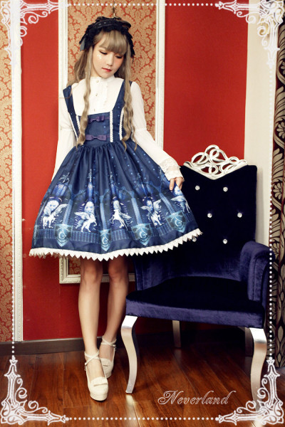 *Neverland*Time and space guardians print lolita jsk dress