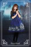 *Neverland* Vatican castle moonlight print lolita jsk dress+hairclip