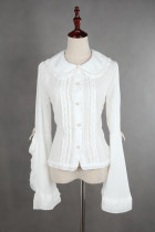 *Neverland*Doll collar bubble sleeve blouse