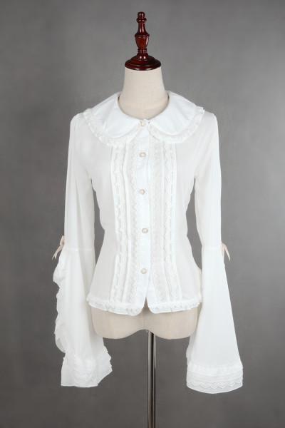 *Neverland*Doll collar bubble sleeve blouse