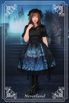*Neverland* The butterfly cemetery high waist butterfly tail bead chain lolita jsk dress