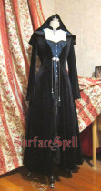 SurfaceSpell ~VELVET EDEN~Goth velvet witch robe windbreaker