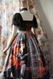 SurfaceSpell ~ L'annonce faite a marie Gothic Print  Lolita OP Dress