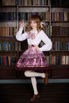 *Neverland*Chocolate Bear Chocolate Bear print lolita skirt