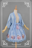*Neverland*Maneki neko print lolita skirt + haori pre-order