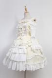 *Neverland*Bell unicolor lace layer lotus leaf edge lolita JSK dress