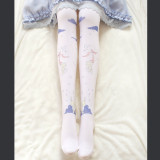 Ctue Little Bear Envelope Printing Sweet Lolita Socks