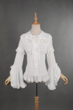 *Neverland*Madeleine Elegant lolita chiffon shirt with lace sleeves