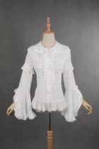 *Neverland*Madeleine Elegant lolita chiffon shirt with lace sleeves