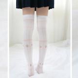 Sweet Lolita Strawberry Print High Socks