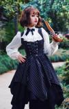 Surface spell~ Gothic Stripe Irregular Hemline Lolita Jumper