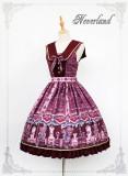 *Neverland*Chocolate Bear print Fake Collar lolita Jumperskirt