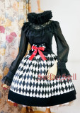 SurfaceSpell ~Rhombic splicing gothic  fishbone  high waist skirt