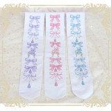 Sweet Lolita Bowknot Printing High Socks