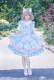 *Neverland*Maneki neko print Japenese style jsk dress with yarn overskirt