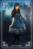*Neverland* Vatican castle moonlight print lolita jsk dress+hairclip