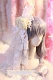 【Night Tales】White rose lolita headdress/hair clip