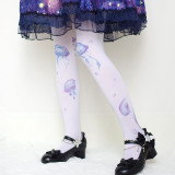 Sweet Lolita Jellyfish Printing Tights