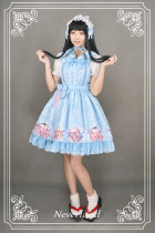 *Neverland*Maneki neko print Detachable sailor collar lolita jsk dress