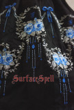 SurfaceSpell ~Rose-dance~Gothic original embroidered short sleeves op dress