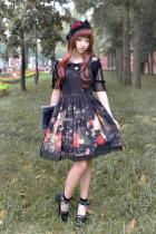 *Neverland*Pick flowers girl special set normal waist lolita dress