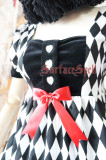 SurfaceSpell ~Rhombic splicing  high waist gothic doll op dress