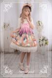 *Neverland*The courtyard cat print high waist lolita dress