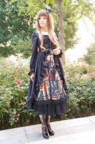 SurfaceSpell ~Knife-wielding saint~Digital print high waist lolita JSK dress