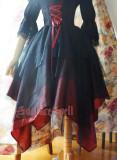 Surface spell~White crystal and black agate multi-layer irregular yarn high waist skirt