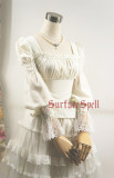 SurfaceSpell ~Rose-dance~ Goth chiffon long-sleeved  shirt/blouse