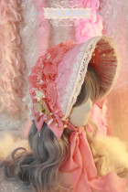 【Night Tales】Lolita headdress Court style lace bonnet