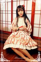 *Neverland*Hyakki Yagyō -The nine-tailed fox jpfashion print haori+skirt