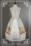 *Neverland*Multiple layers of flounce lolita petticoat