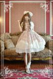 *Neverland*Antique clock Sweet lolita Bubble sleeves spliced chiffon dress