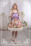 *Neverland*The courtyard cat print high waist lolita dress