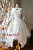Surface spell~White crystal and black agate multi-layer irregular yarn high waist skirt