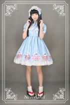 *Neverland*Maneki neko print lolita short sleeve high waist op dress pre-order