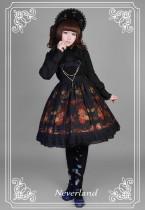 *Neverland*Pick flowers girl print lolita jsk dress with Pectoral flower bead bethanath