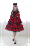 *Neverland*Devil's Wings long-sleeved removable false pointy collar gothic dress pre-order