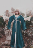 SurfaceSpell ~Simonetta~Renaissance false two pieces dark grain dress